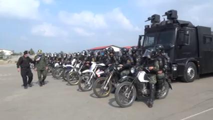 مانور اقتدار یگان ویژه نیروی انتظامی گیلان