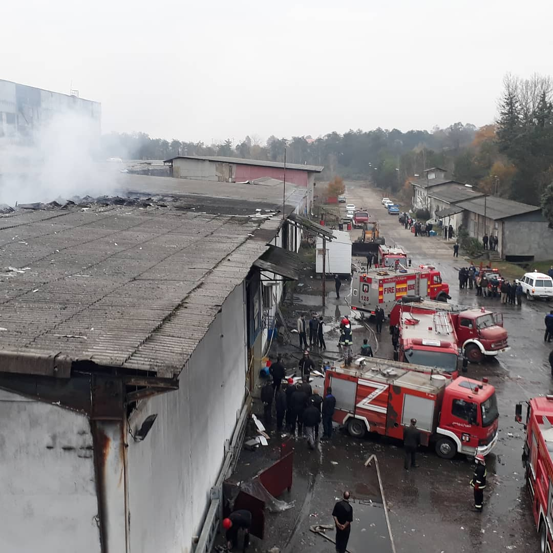 آتش سوزی در کارخانه چوکا مهار شد.